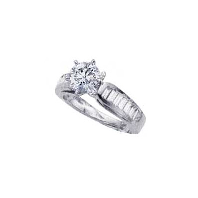 1.01 Carats, Marquise, Engagement ring with side stones settings