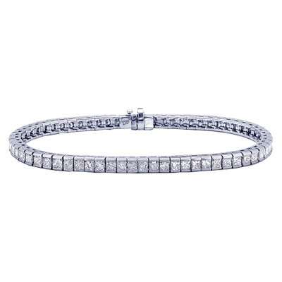 Princess diamonds Tennis Bracelet, 6.60 carats