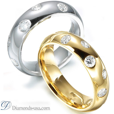 0.5O Carats diamond Wedding band-5.6mm width