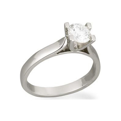 U Head, Wide Cathedral solitaire engagement ring