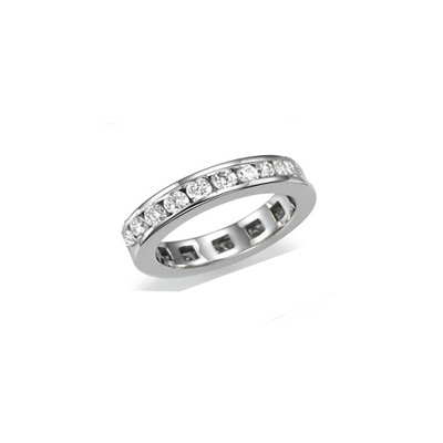1.25 carats Round diamonds eternity band