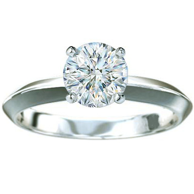 3mm Knife Edge Solitaire Engagement ring
