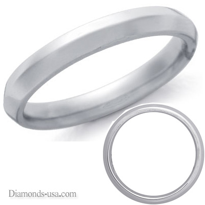 4mm Man's Knife edge wedding band