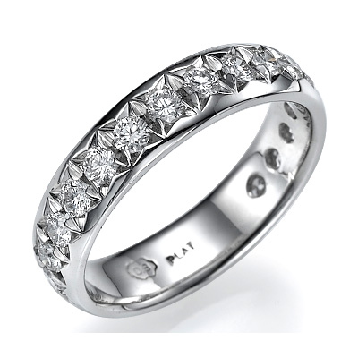 3/4 carat 4.5mm wedding band