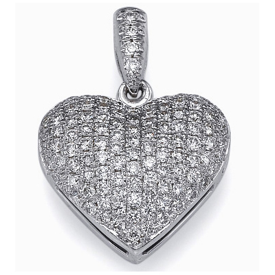 110 diamonds micro Pave set  pendant, 0.5 carat