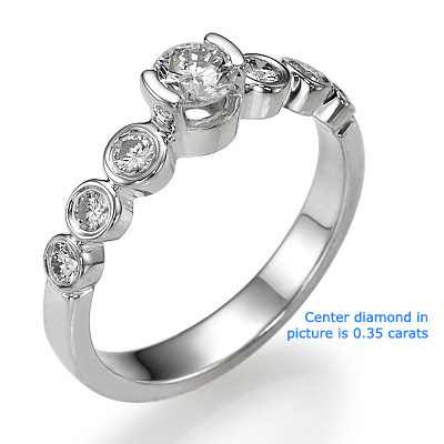 Seven diamonds engagement ring settings