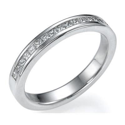 1/3 carat Princess diamonds wedding band