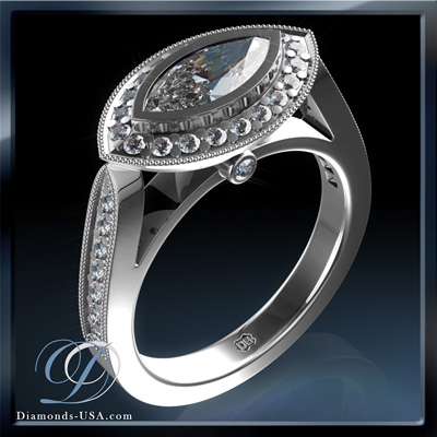 Tailored to your Marquise diamond engagement ring