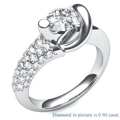 Tying the Knot, Designers engagement ring
