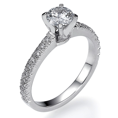 All Pave engagement ring